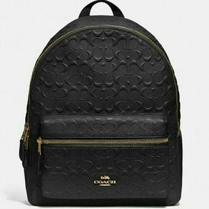 💜NEW WITH TAGS●COACH Leather Backpack💜
